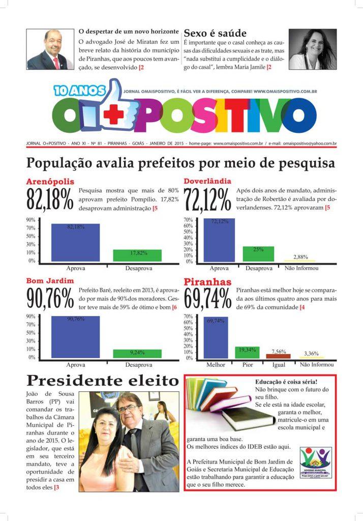 Jornal O Mais Positivo (Piranhas GO)